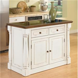 Home Styles Monarch Kitchen Island with Granite Top