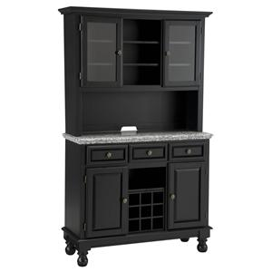 Grey Granite Top Server & Two Door Hutch