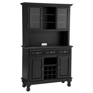 Black Granite Top Server & Two Door Hutch