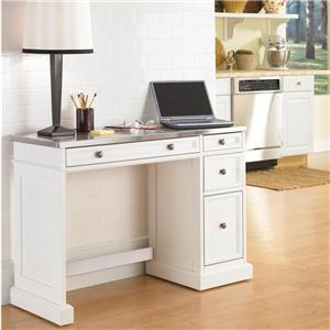 Home Styles Traditions Utility Desk with Stainless Steel Top