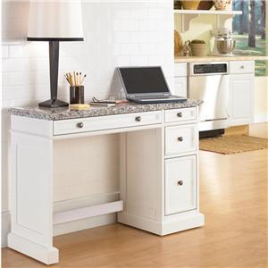 Utility Desk with Salt & Pepper Granite Top