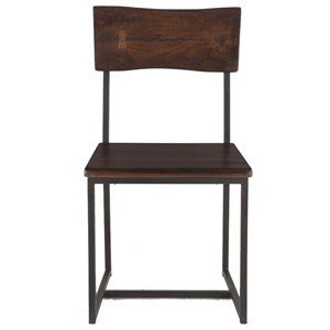 BeGlobal Aspen Faux Live-Edge Dining Chair