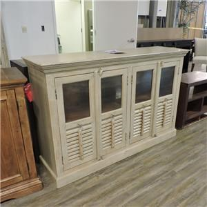 Wide Glass Front Cabinet