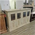 BeGlobal Clearance Wide Glass Front Cabinet - Item Number: 474766817