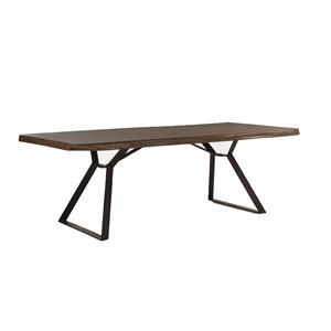 "Home Trends &Design London Loft Collection  80"" Wood Top Table"