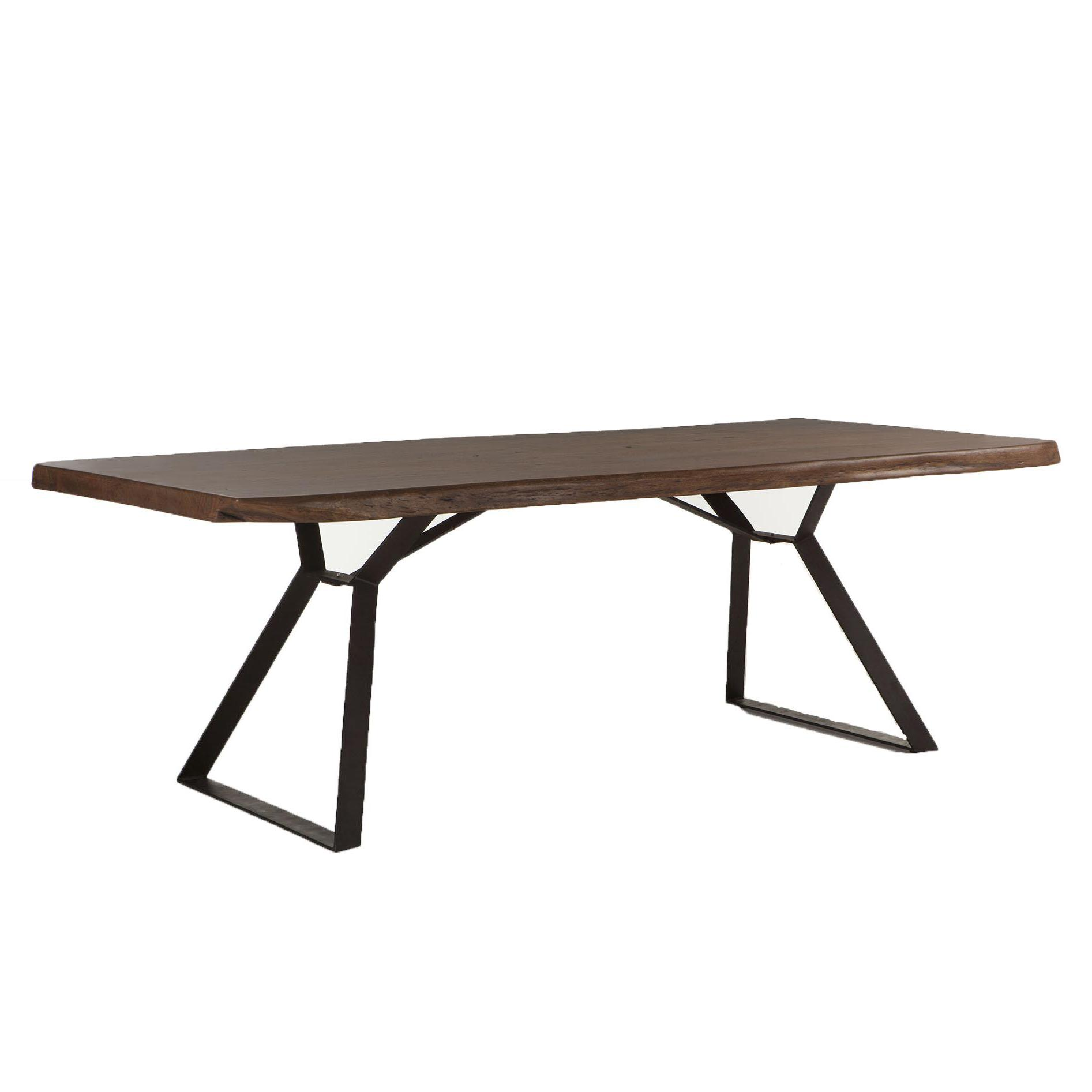 BeGlobal FLL Dining Table - Item Number: FLL-DT94WN-T+B