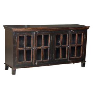 Home Trends & Design FVA Wide Glass Cabinet