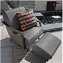 Homecrest Airo2 Outdoor Ottoman - Shown with Arm Chair
