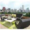 Homecrest Airo2 Armless Upholstered Chair - Shown in Outdoor Setting