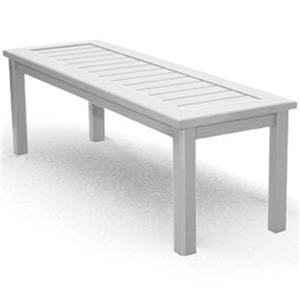 Homecrest Dockside Slat Rectangular Bench