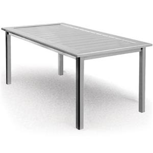 Homecrest Dockside Slat Rectangular Balcony Table
