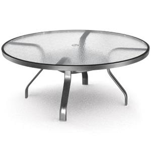 "Homecrest Glass 48"" Chat Table"