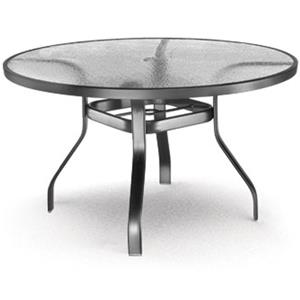 "Homecrest Glass 48"" Dining Table with Umbrella Hole"