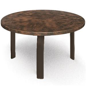 "Homecrest Hammered Metal 24"" Round Side Table"