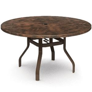 "Homecrest Hammered Metal 54"" Round Balcony Table"
