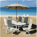 Homecrest Holly Hill High Back Dining Chair - Shown in Outdoor Setting