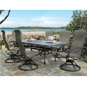 Homecrest Palisade  Dining Set with 6 Chairs