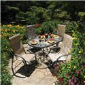 Homecrest Palisade  High Back Swivel Rocker - Q7E910 - Shown in Outdoor Setting