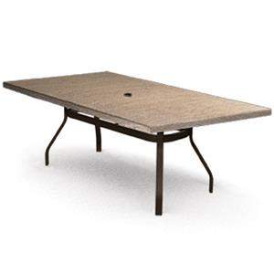 "Homecrest Slate 42""x 82"" Rectangular Balcony Table"