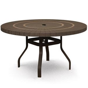 "Homecrest Sorrento 42"" Dining Table with Umbrella Hole"