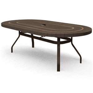 Homecrest Sorrento 44x 84 Outdoor Oval Balcony Table