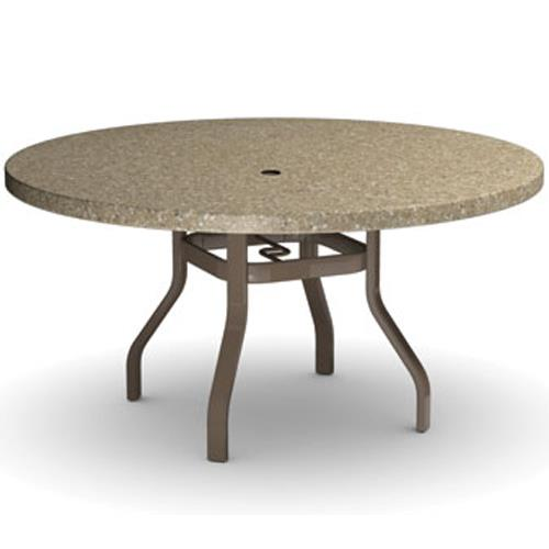 "Homecrest Stonegate 54"" Round Dining Table with Umbrella Hole - Item Number: 3754RDSG"