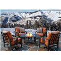 Homecrest Trenton Motion Outdoor Chat Chair - Shown in Outdoor Setting