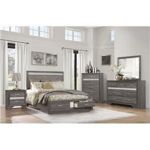 Queen Storage Bed, Dresser, Mirror & Nightst
