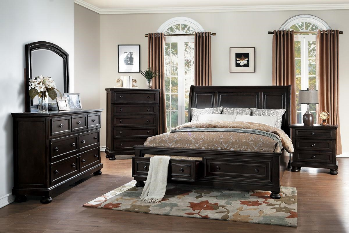 Homelegance Carmella Queen Bed - Item Number: 1718GY-1+2+3