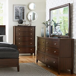 Homelegance 1730 Dresser and Mirror Set