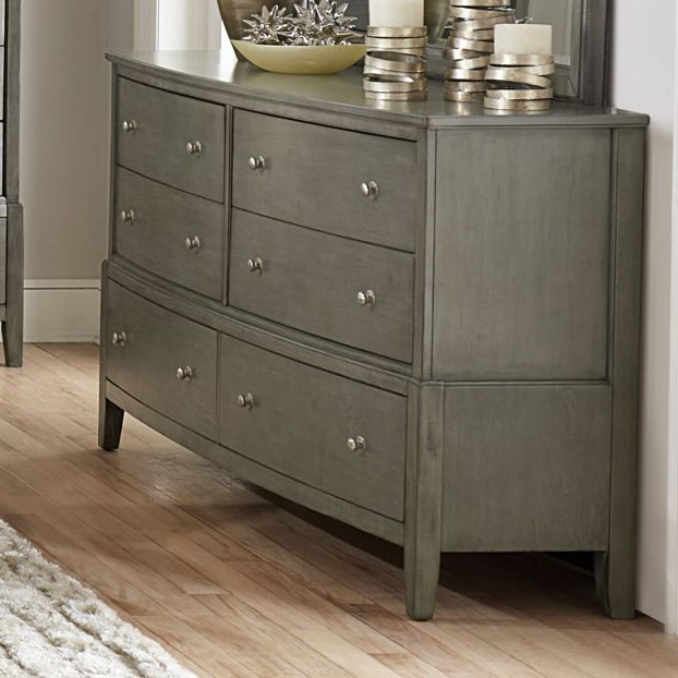 Homelegance Cotterill Drawer Dresser - Item Number: 1730GY-5