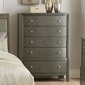 Homelegance Cotterill Chest of Drawers - Item Number: 1730GY-9