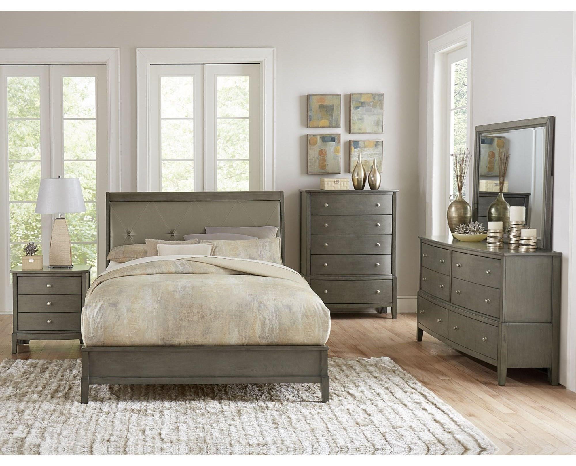 Queen Loft Bed, Dresser, Mirror & Nightstand