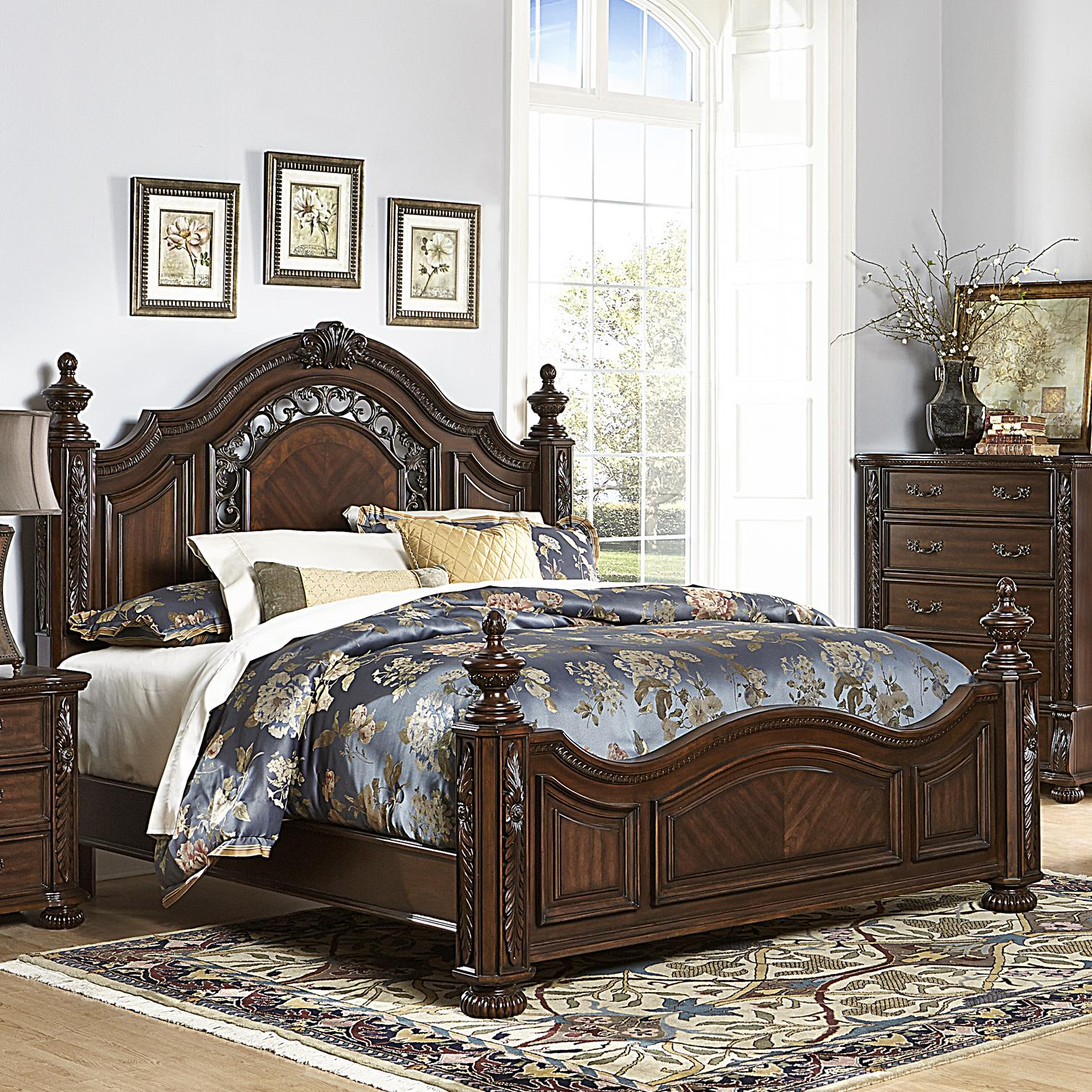 Homelegance Augustine Court King Bed - Item Number: 1814K-1+3EK+P
