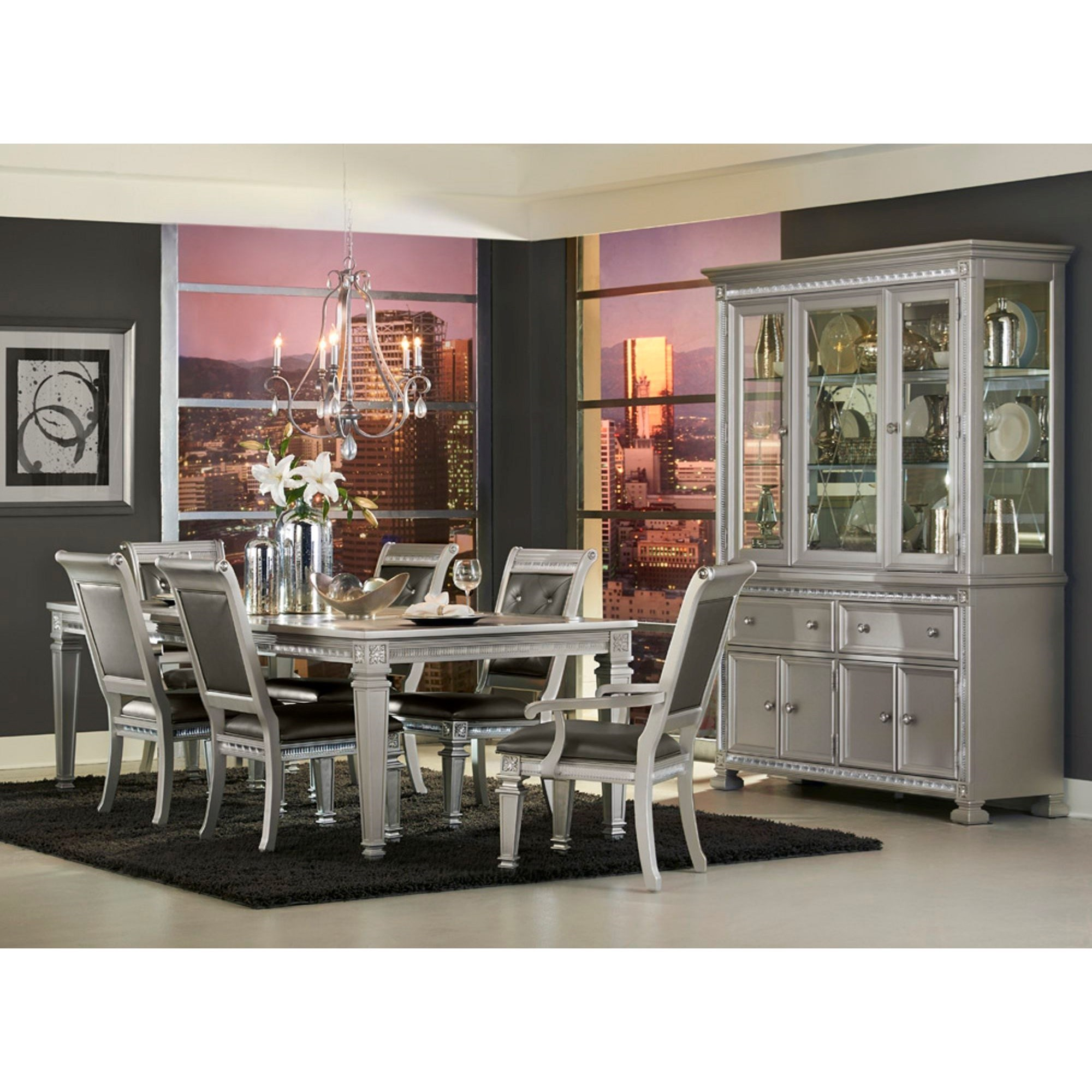 Dining Room China: Homelegance 1958 Glam Dining Buffet And Hutch With Display