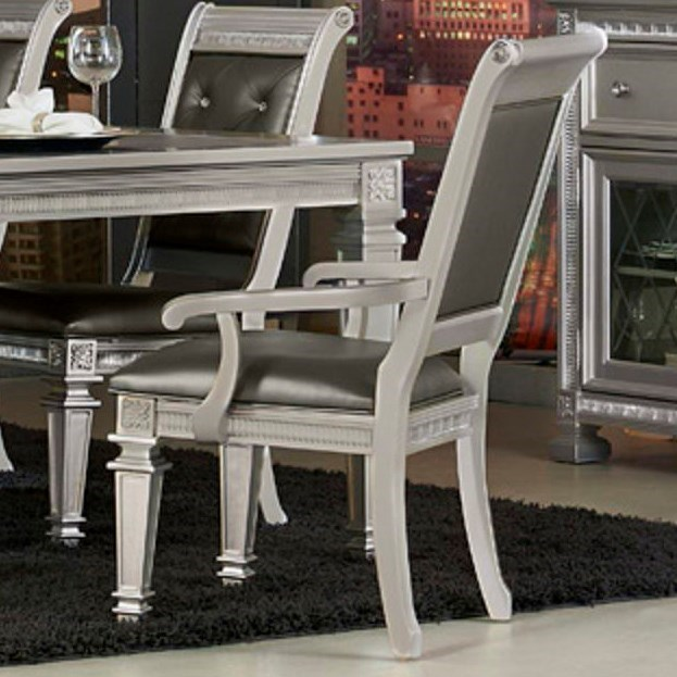 Glam Dining Arm Chair