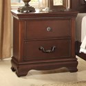 Homelegance (Clackamas Only) 2039C Traditional Night Stand with Two Drawers