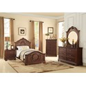 Homelegance 2039C Traditional Dresser with 6 Drawers
