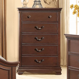 Homelegance 2039C Traditional Chest of Drawers