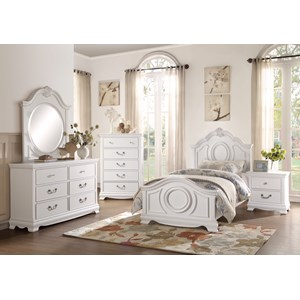 Homelegance 2039W Traditional Full Bedroom Group