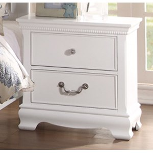 Homelegance 2039W Traditional Night Stand