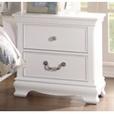 Homelegance 2039W Traditional Night Stand with Two Drawers