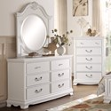 Homelegance 2039W Traditional Dresser and Mirror - Item Number: 2039W-5+6