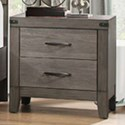 Homelegance 2042 Contemporary 2-Drawer Nightstand with Modern Silhouette