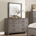 Elegance 2042 Contemporary Dresser and Mirror - Item Number: 2042-5+6