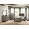 Homelegance 2042 Contemporary 6-Drawer Dresser and Mirror