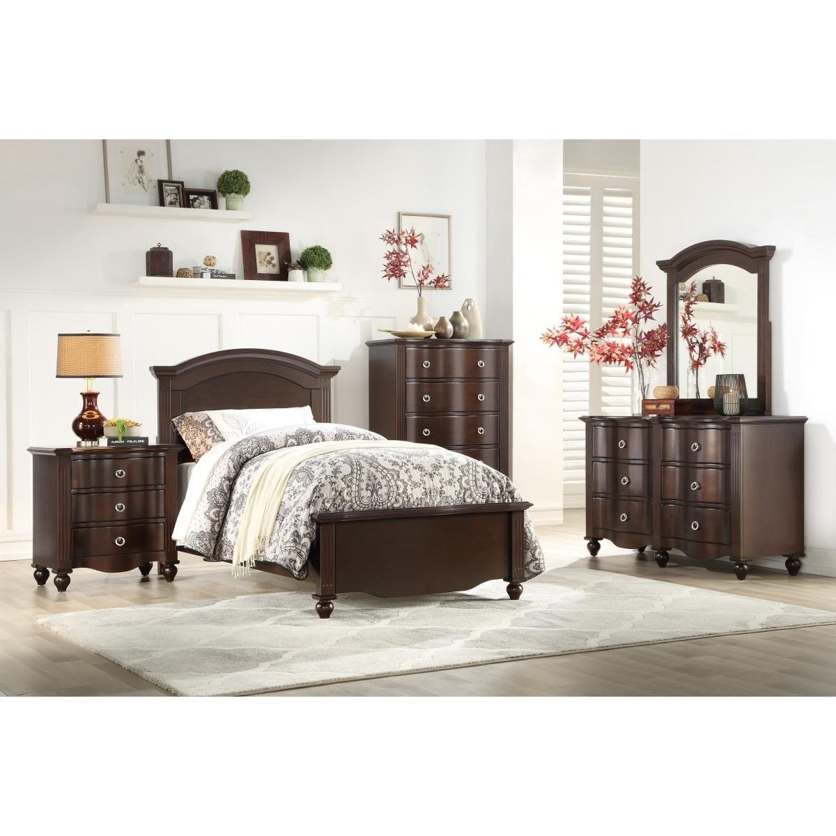 2058C Twin Bedroom Group  by Homelegance at Carolina Direct