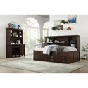 Homelegance 2058C Twin Bedroom Group - Item Number: 2058C T Bedroom Group 2