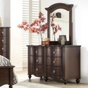 Homelegance 2058C Dresser and Mirror Set - Item Number: 2058C-5+6