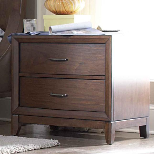 Homelegance 2135 2 Drawer Night Stand With Metal Hardware Tapered Legs Michael 39 S Furniture